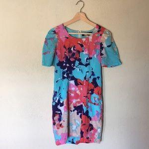 Colorful Blue Rain Dress - Like New - Small